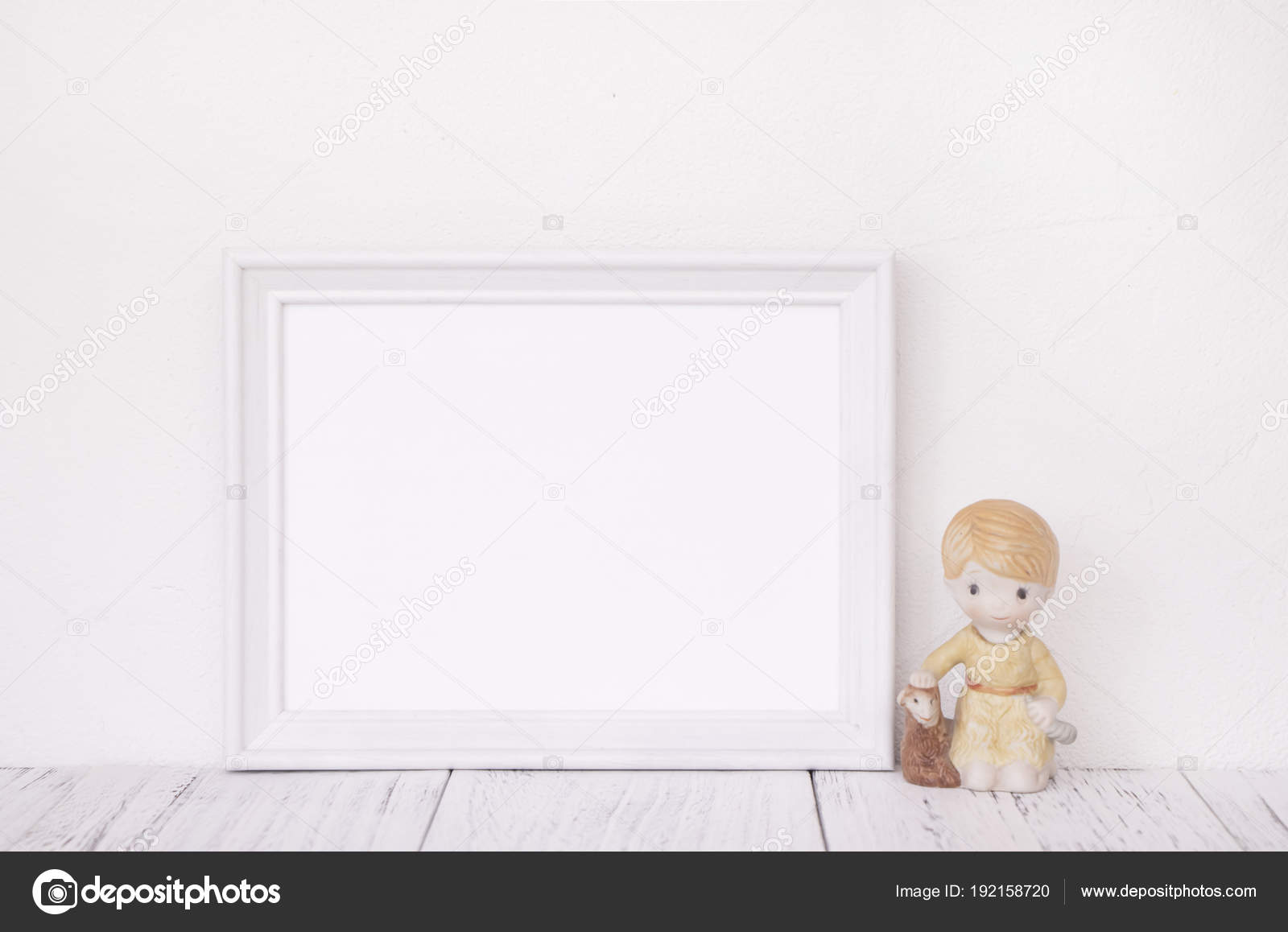Stock photography of retro white frame template vintage wood tab ...