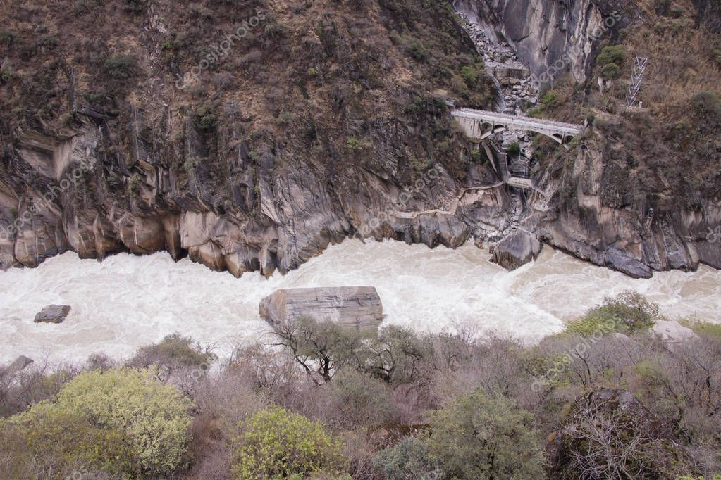 Tiger leaping gorge located north of Lijiang city, Yunnan Provin