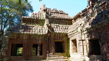 Stone rock temple ruin at Banteay Kdei, part of the Angkor wat c