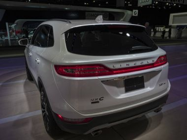 DETROIT, US - JANUARY 15, 2018: Lincoln MKC on display during the North American International Auto Show at the Cobo Center in downtown Detroit.