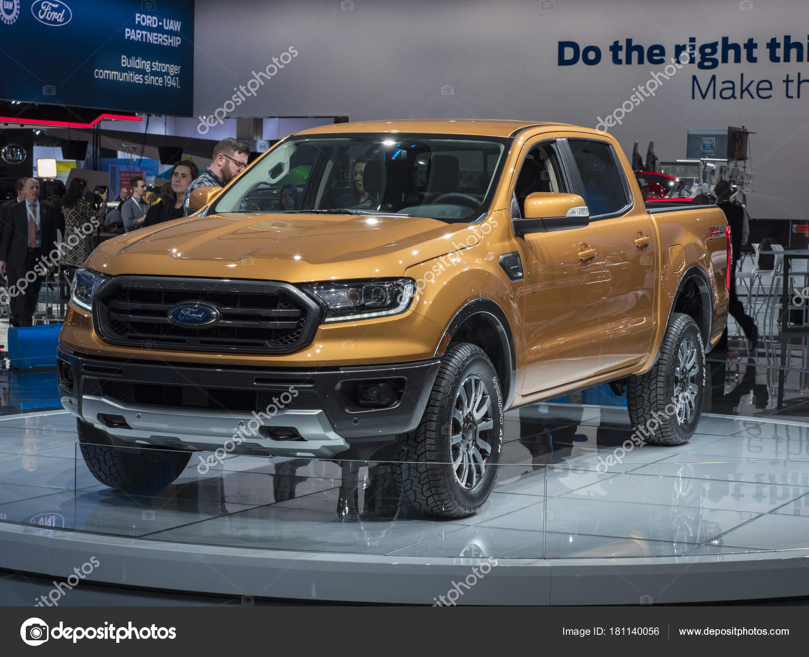 Detroit January 2018 Ford Ranger Display North American
