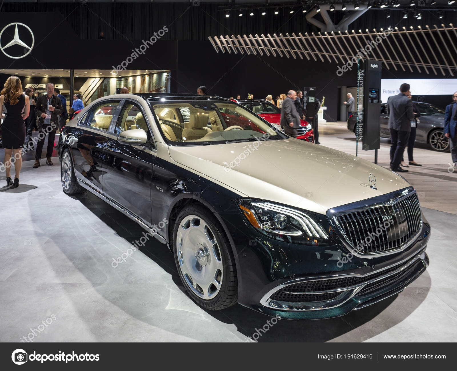 mercedes-maybach s-klasse limousine auf der new york international