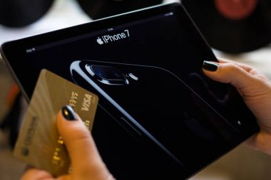 Apple pay Visa. Online purchase