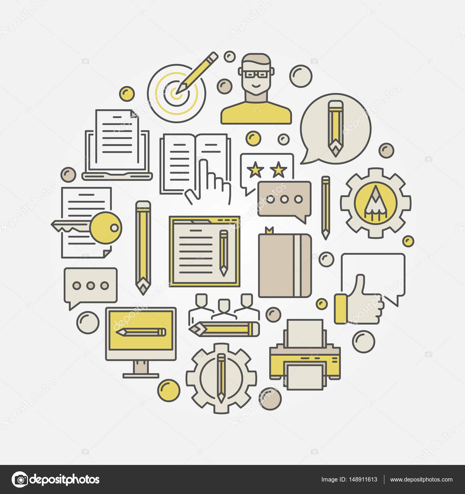 Ilustración de marketing y redacción — Vector de stock © sn3g #148911613