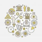 Fotografie Business investment round symbol