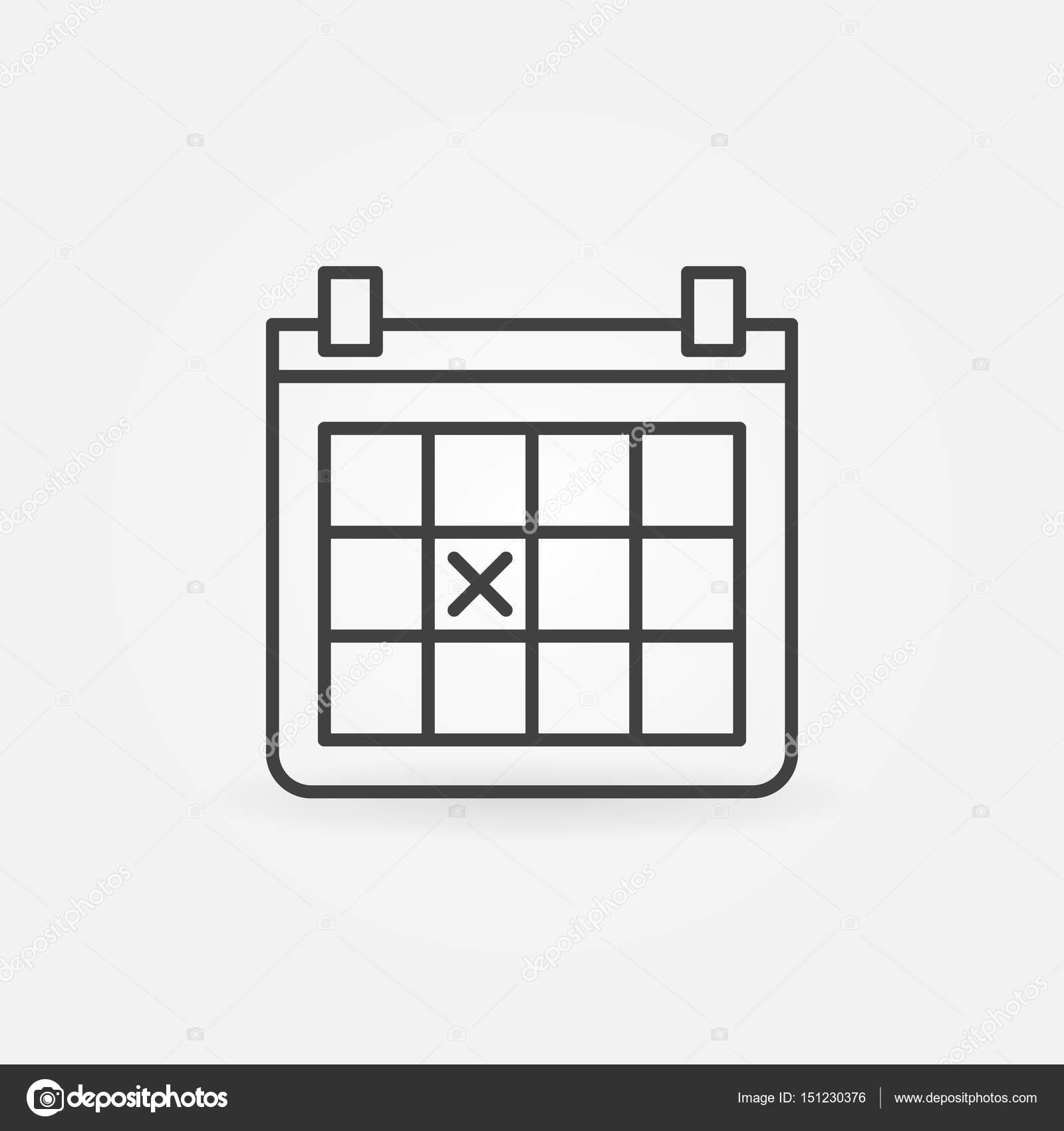 calendar outline icon stock vector sn3g 151230376