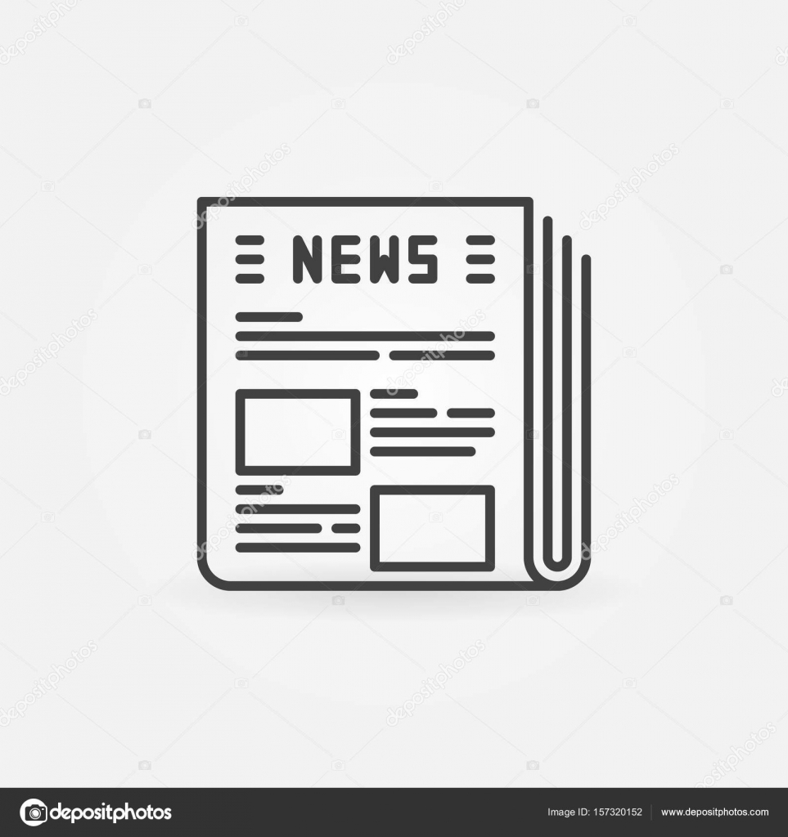 newspaper vector icon stock vector sn3g 157320152 rh depositphotos com newspaper victoria tx newspaper victor id