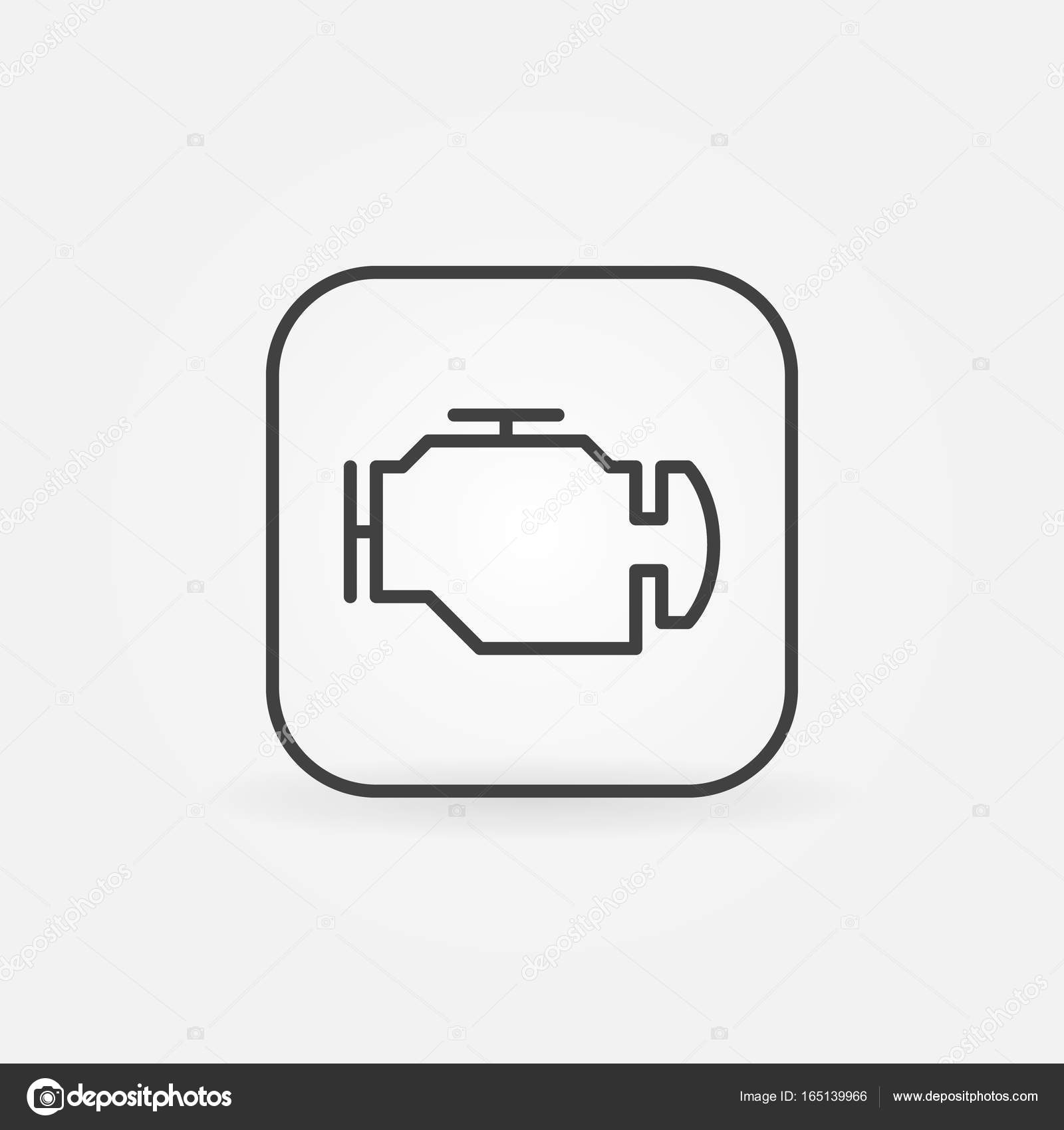 Check engine outline icon stock vector sn3g 165139966 check engine outline icon vector car diagnostic concept symbol in thin line style vector by sn3g biocorpaavc Gallery