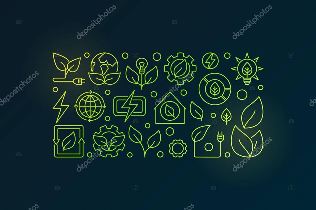 Bioenergy outline illustration