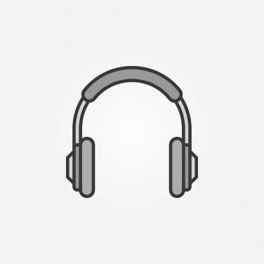 Headphones simple vector icon. Headphone symbol