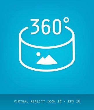 Virtual Reality Icons Series, Flat 2.0 Design - 360 degree panor