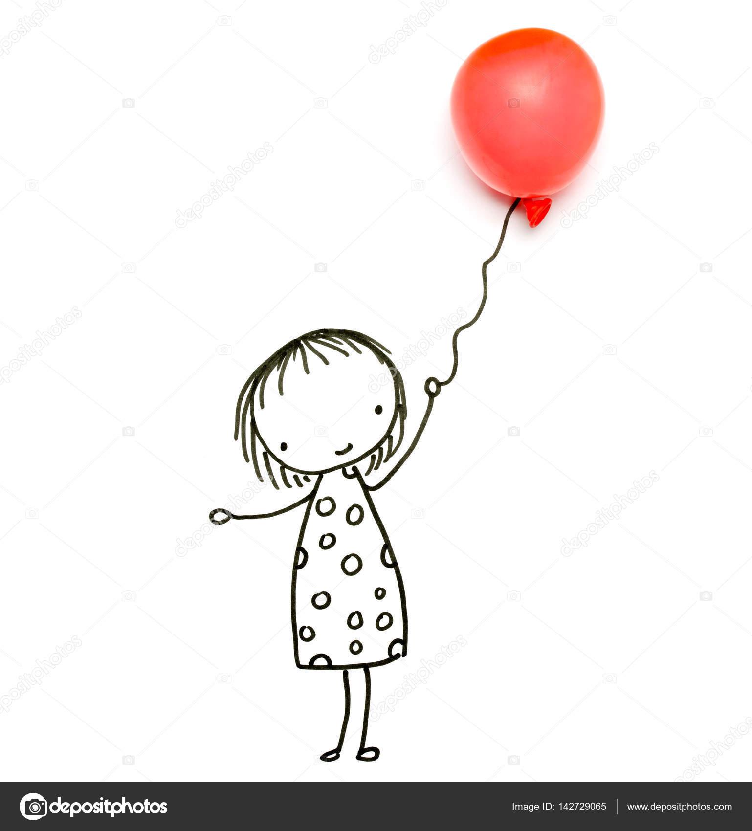 Immagini Disegno Bambino Con Palloncino Serie Di Oggetti Di