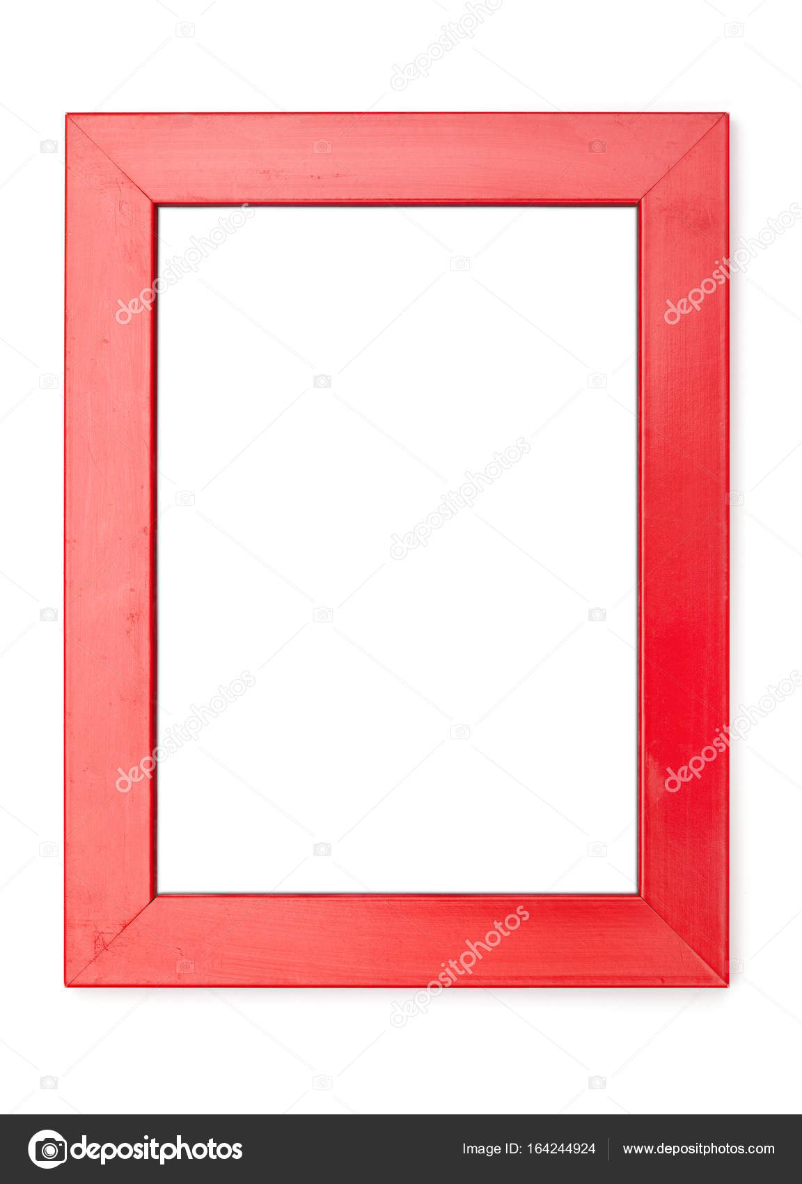 Picture Frames Series, isolated on White Background Cut-Out: red ...