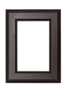 Picture Frames Series, isolated on White Background Cut-Out: Black wood beveled