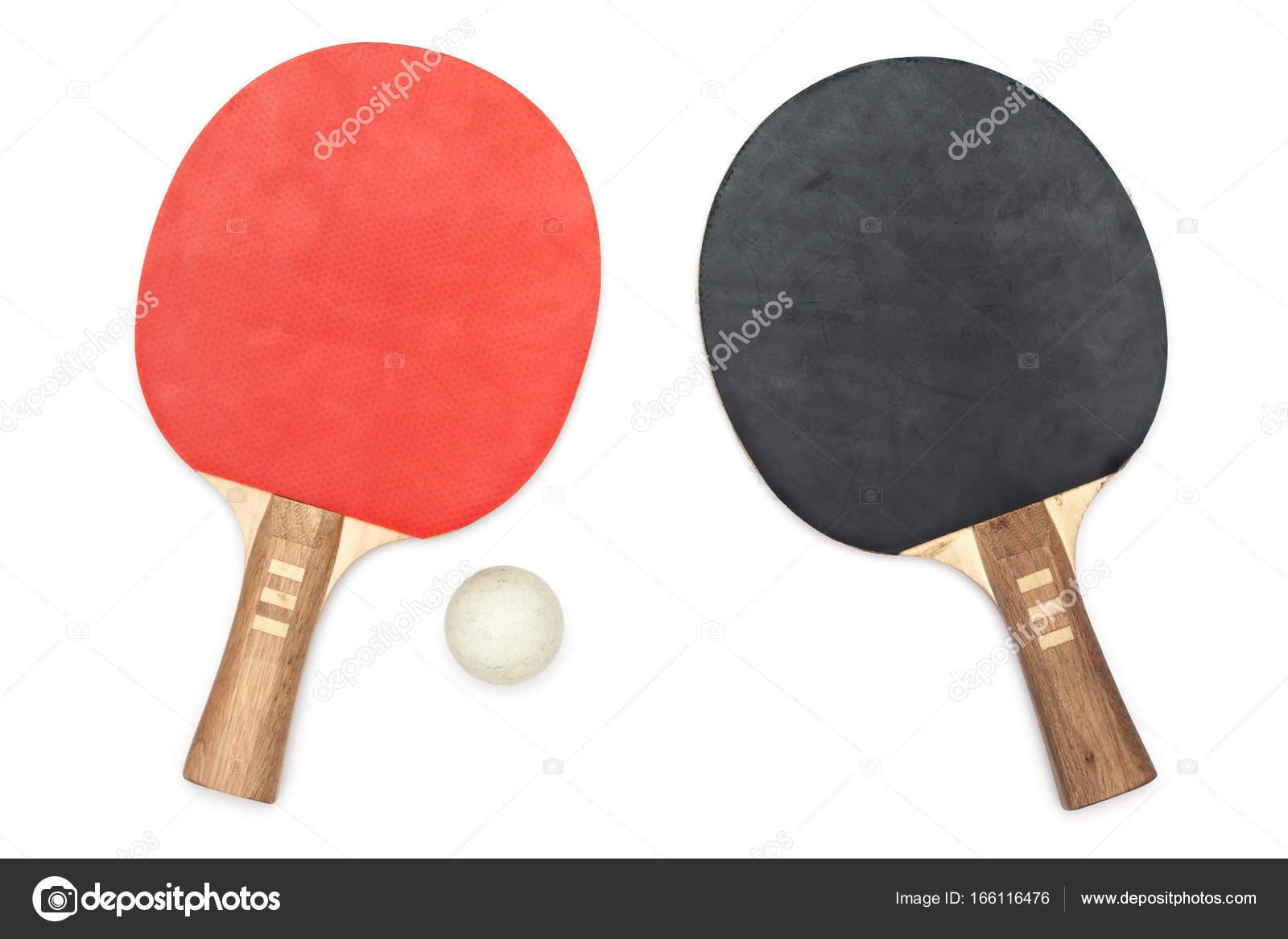 Usa tenis de mesa / palas ping pong / raquetas, aislado sobre fondo ...