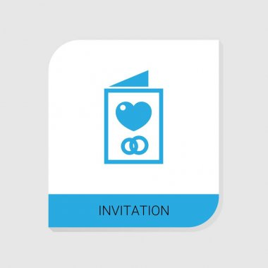 Editable filled Invitation icon from Wedding icons category. Isolated vector Invitation sign on white background