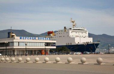Marine Station at Lazar Serebryakov embankment in Novorossiysk. Krasnodar region. Russia