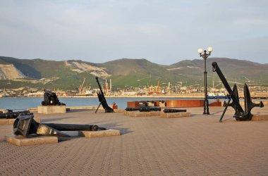 Tsemes bay in Novorossiysk. Krasnodar region. Russia
