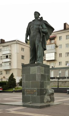 Monument to Unknown sailor at Lazar Serebryakov embankment in Novorossiysk. Krasnodar region. Russia
