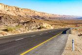 Strada del deserto che conduce fino al cratere Ramon