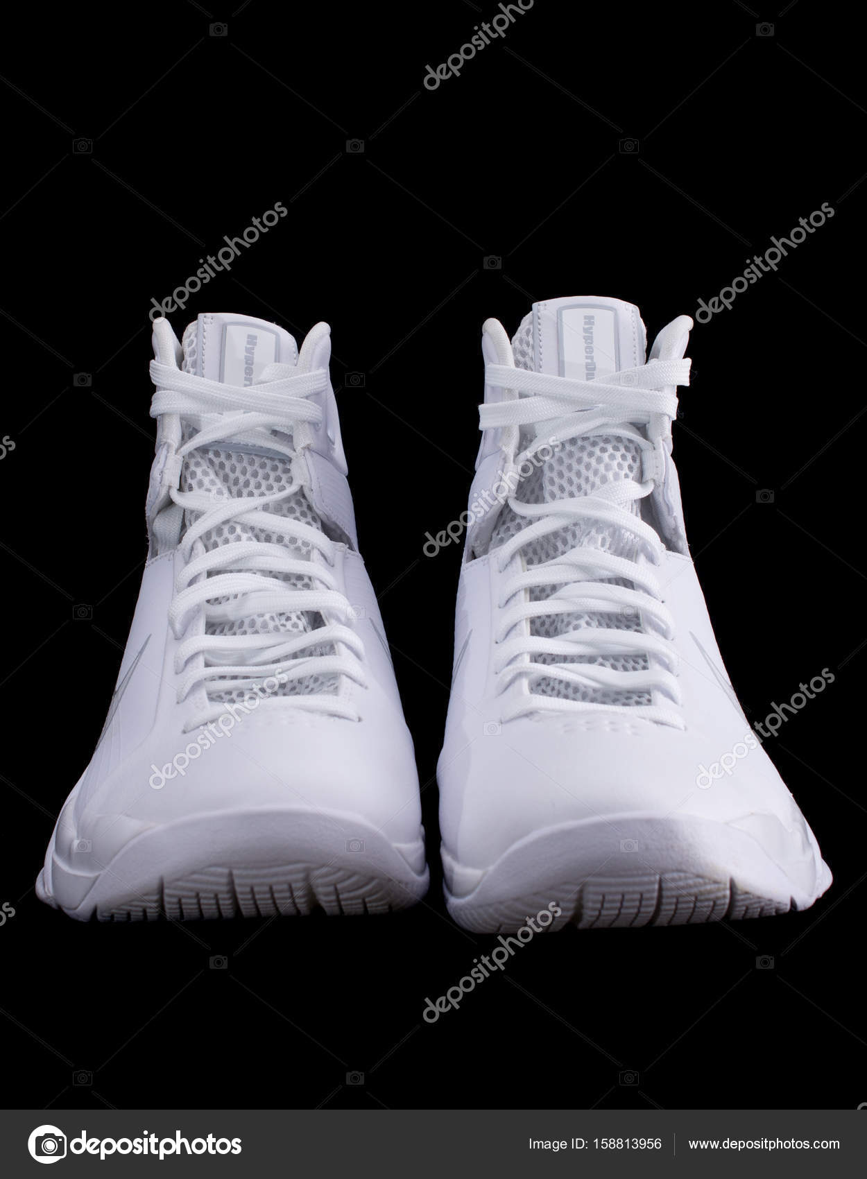 f6d2584a Nike Hyperdunk white High-Top Basketball Shoes Sneakers — Stock Photo