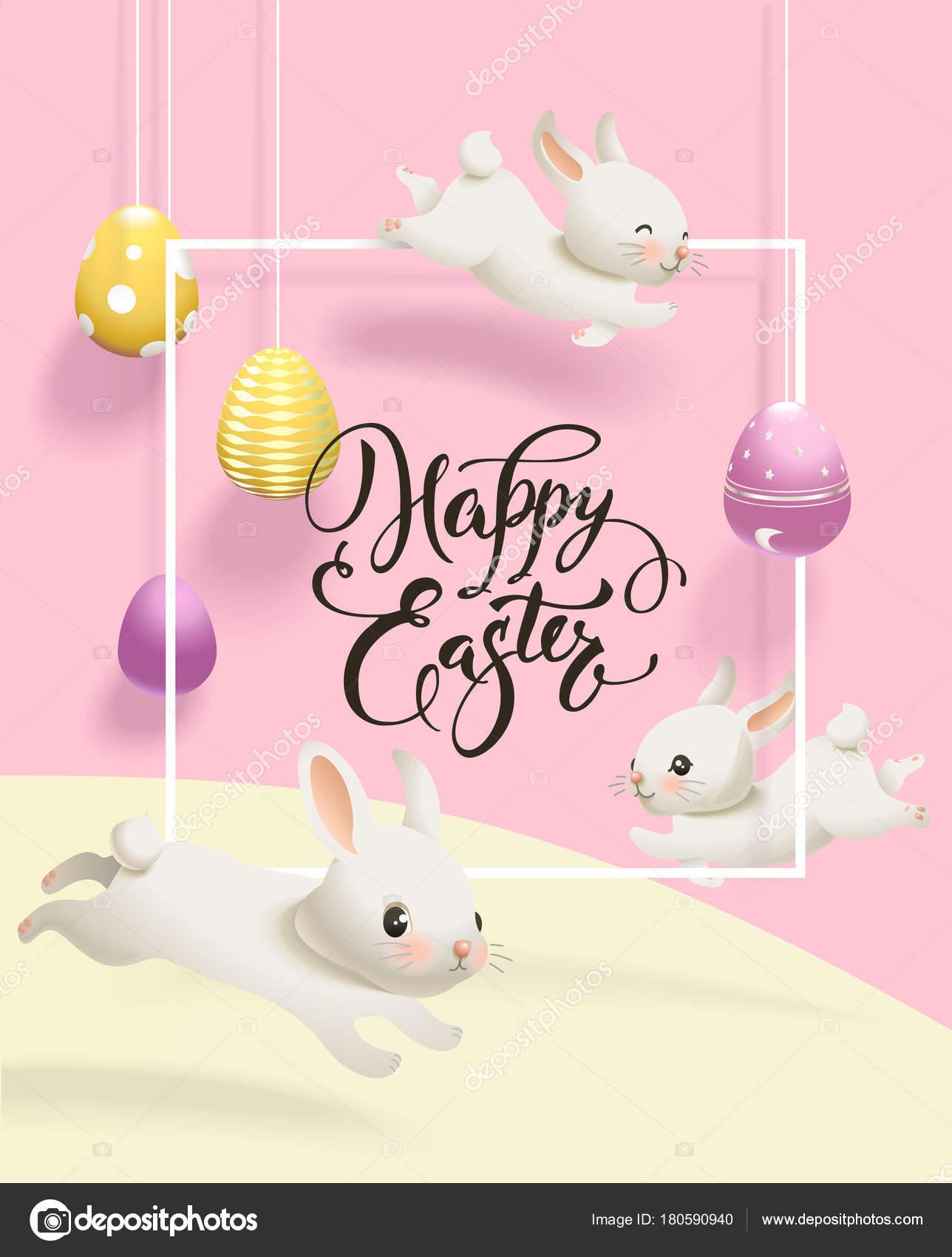 Urlaub horizontale Banner Webvorlage mit dekorativen Eiern an Fäden ...