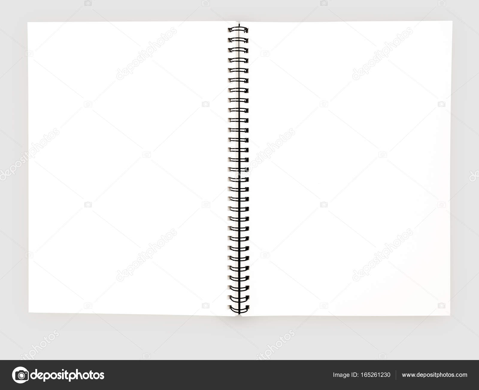 Realistic blank notebook template for cover design school business realistic blank notebook template for cover design school business diary stock photo cheaphphosting Image collections