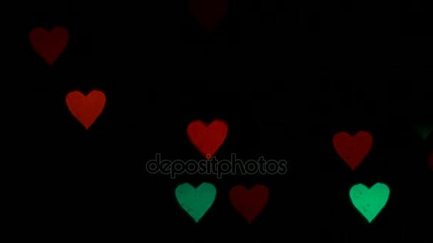 villogó szív alakú háttérben fény bokeh