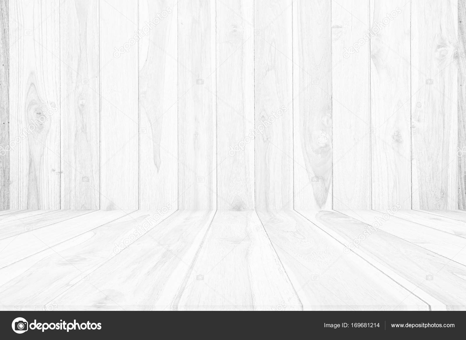Wood Background White Floor Agent Wall For Design Stock Photo