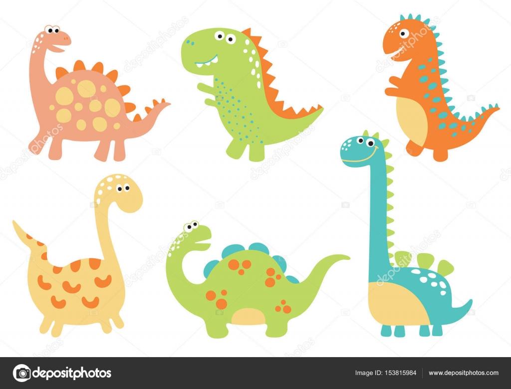 かわいい恐竜のイラスト ストックベクター Arnica83 153815984