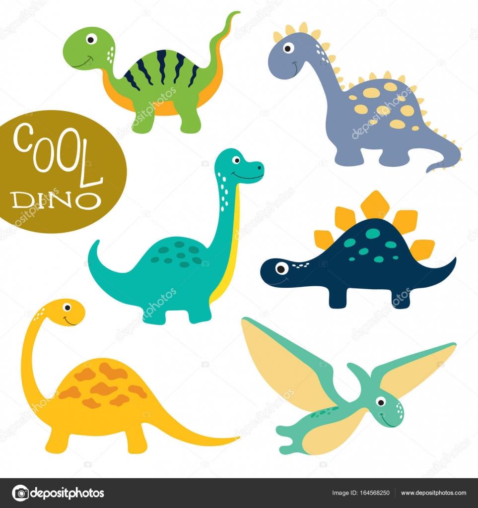 かわいい恐竜のイラスト ストックベクター Arnica83 164568250