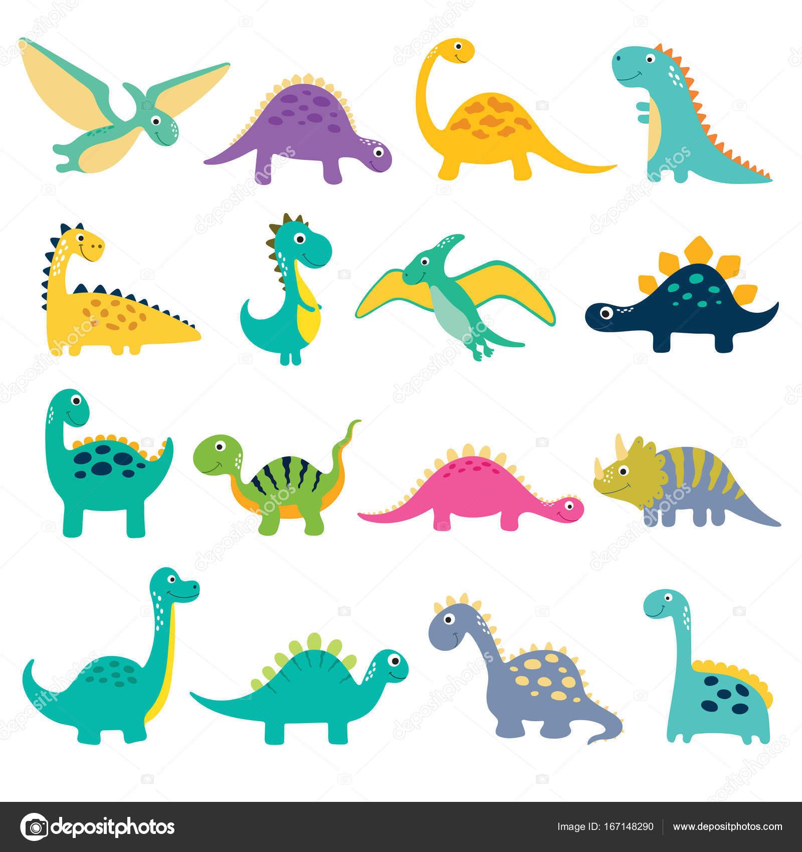 かわいい恐竜のイラスト ストックベクター Arnica83 167148290
