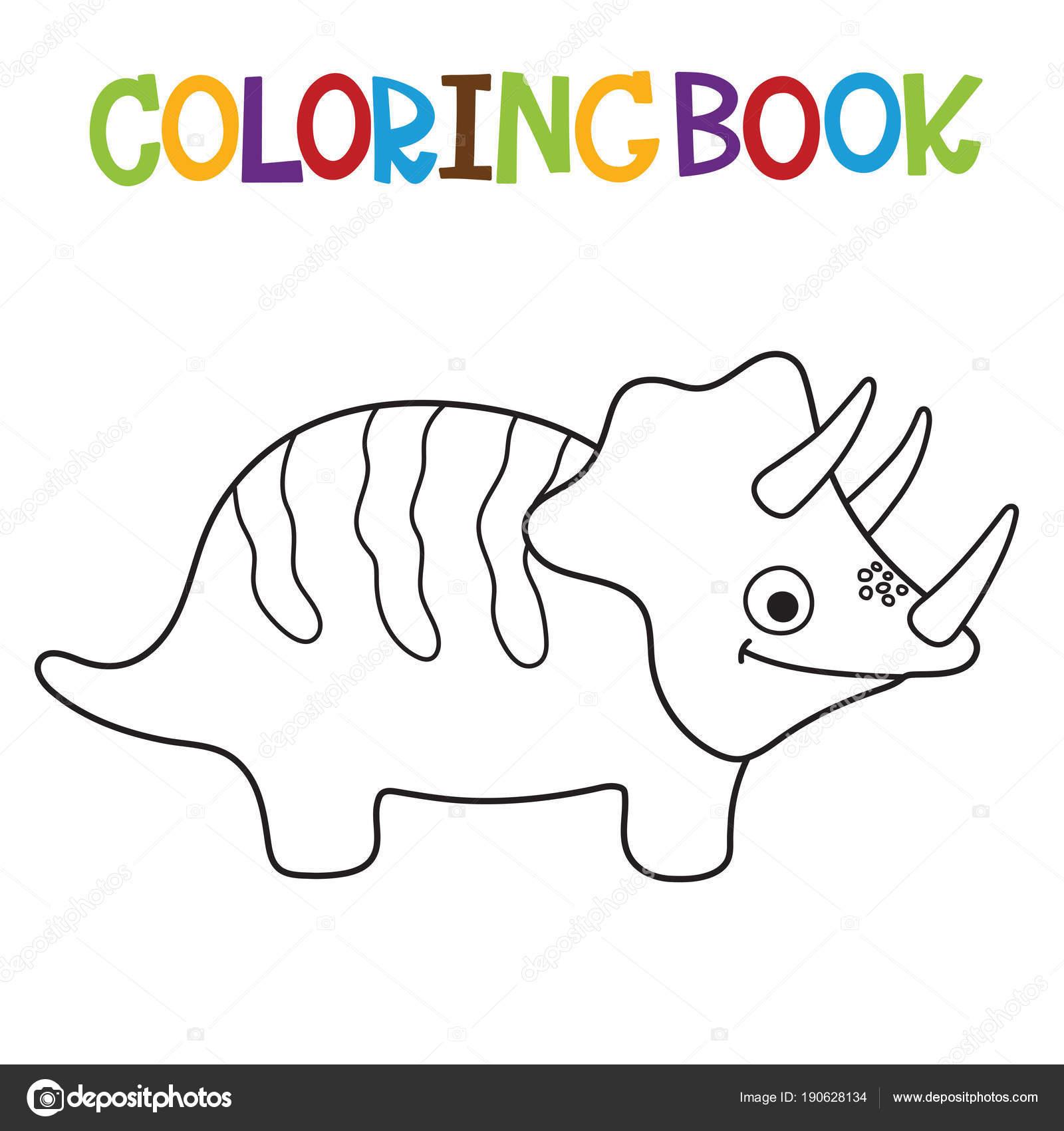Contemporáneo Colorear Lindo Triceratops Festooning - Enmarcado Para ...