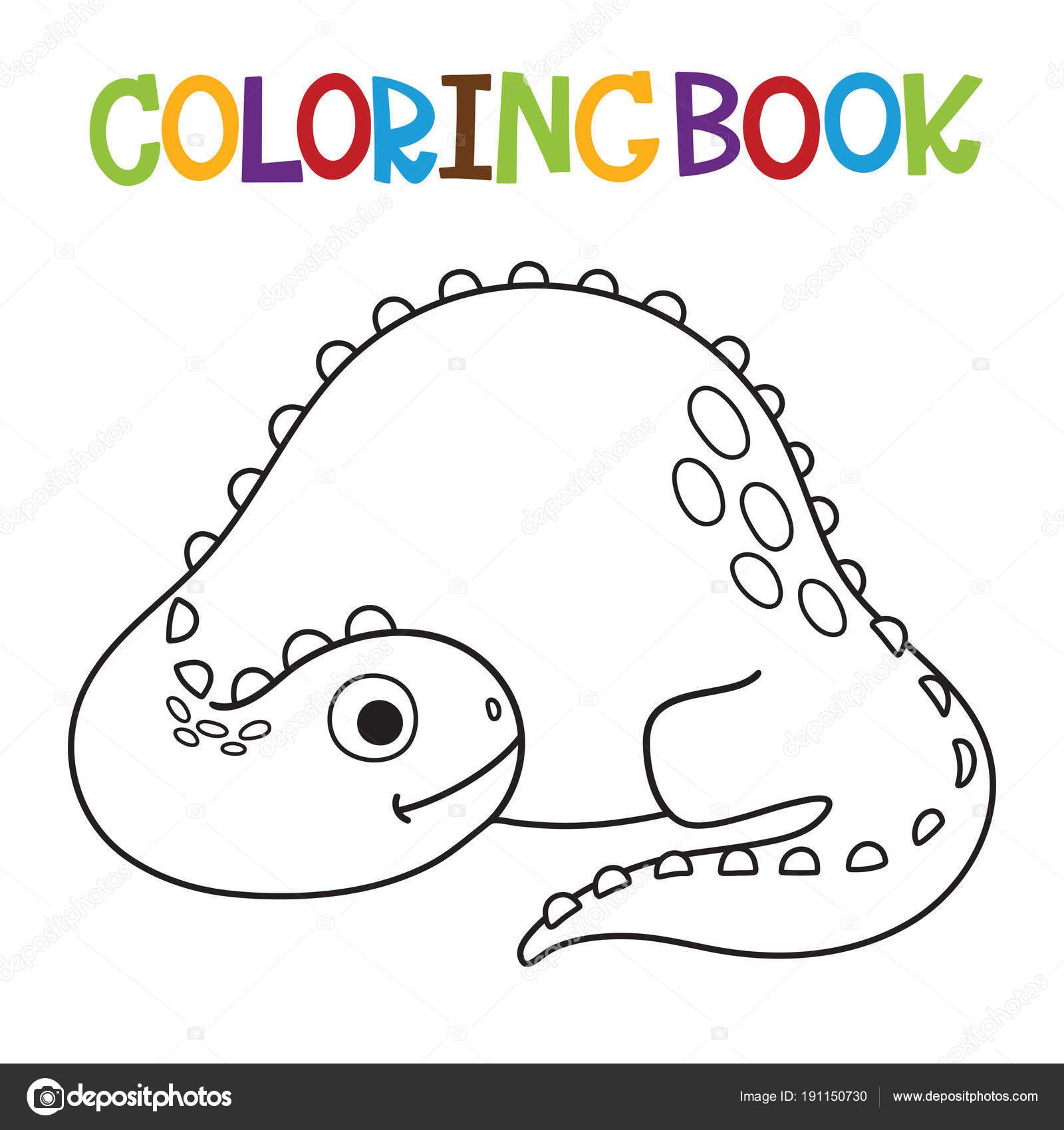 Libro para colorear de dino lindo — Vector de stock © ARNICA83 ...