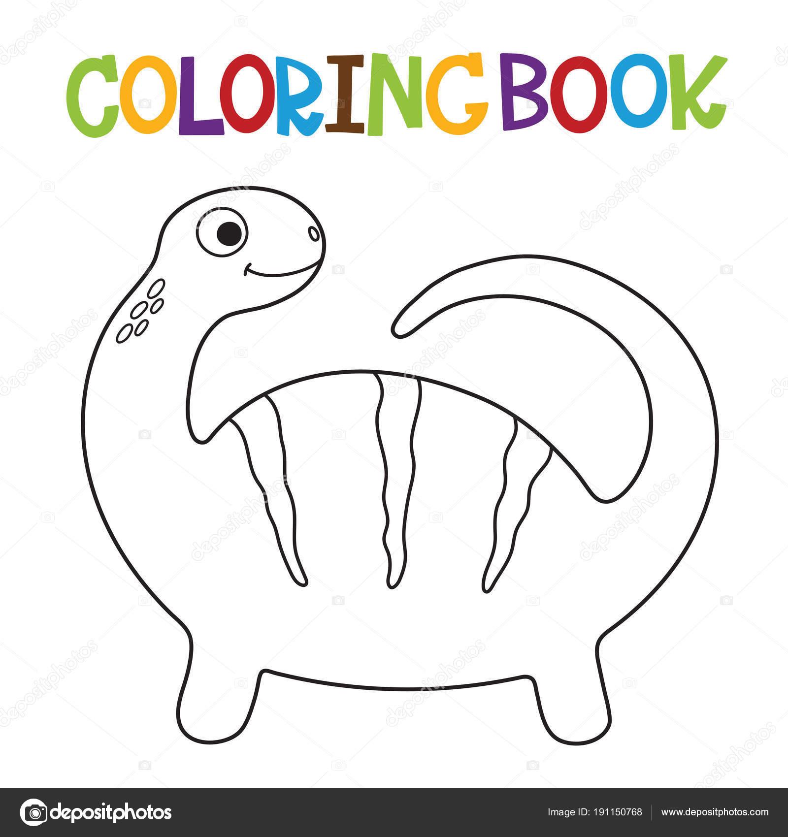 Cute Dino coloring book — Stock Vector © ARNICA83 #191150768