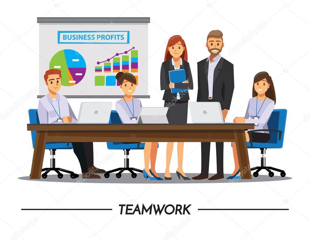Imagenes De Personas Trabajando En Equipo: Imágenes: Dibujo De Personas Trabajando En Equipo