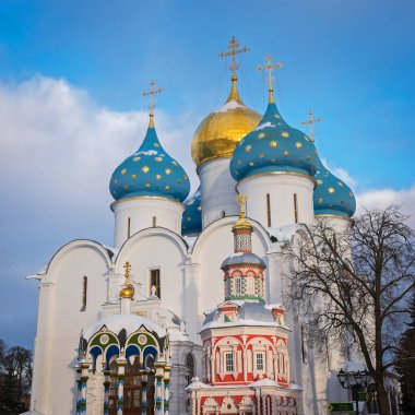 Assumption Cathedral of the Trinity Lavra of St. Sergius in Sergiev Posad, Russia
