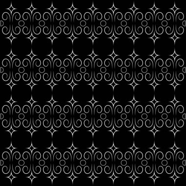 simple openwork pattern on a black background