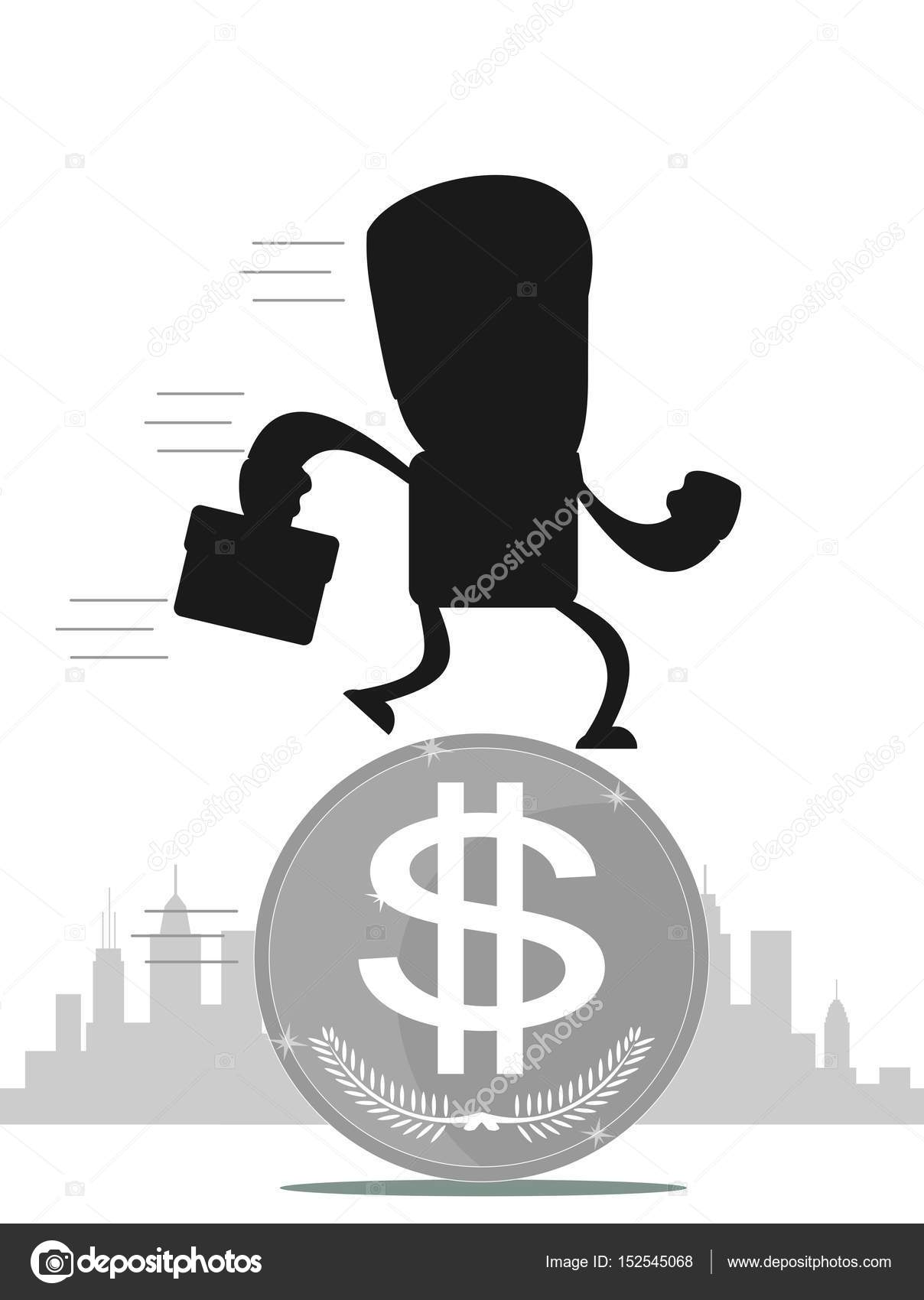 Time for invest man with gold coin stock vector aleksei time for invest man with gold coin time investment concept finance and money investor and stock market isolated on white background biocorpaavc Images