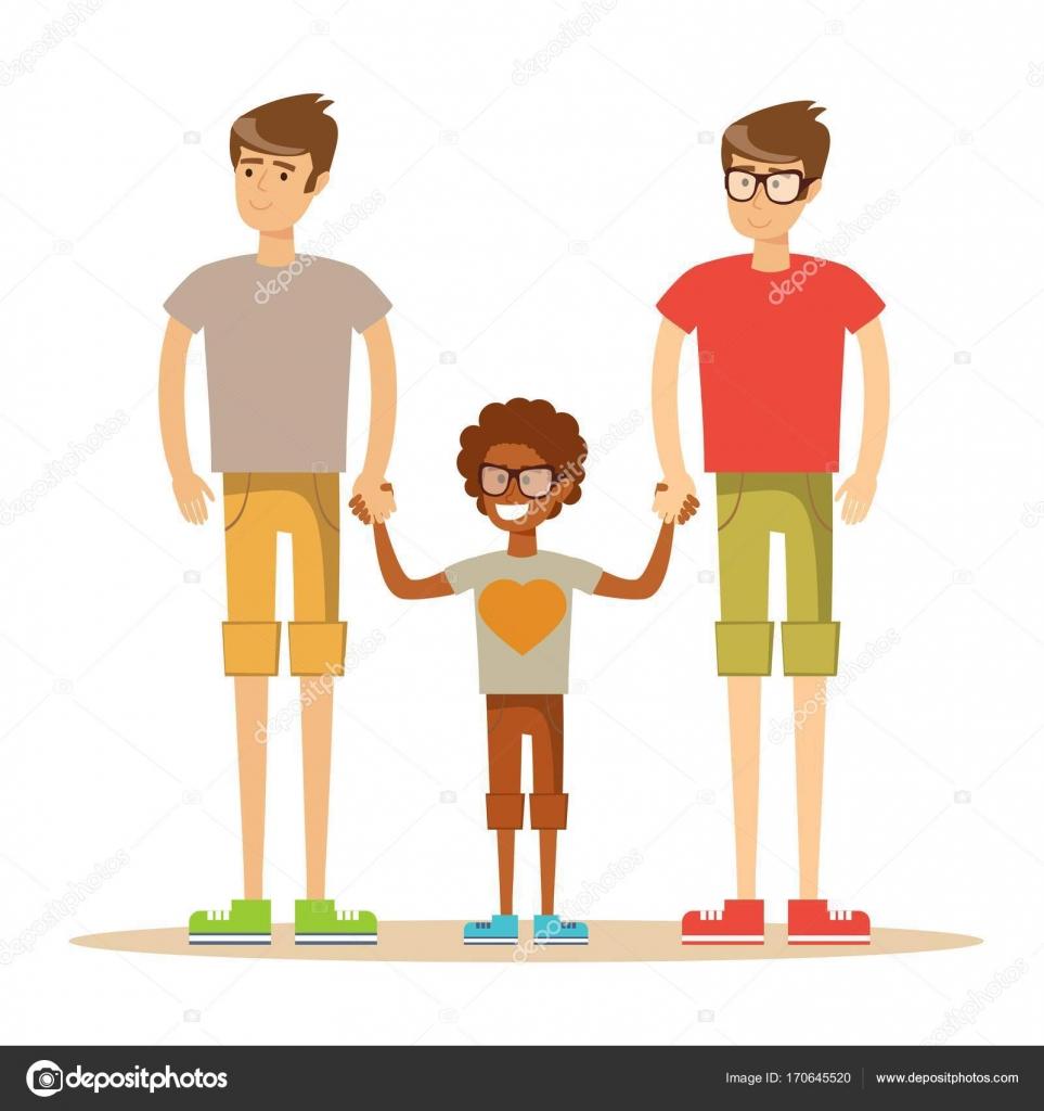 Gay interracial illustrations