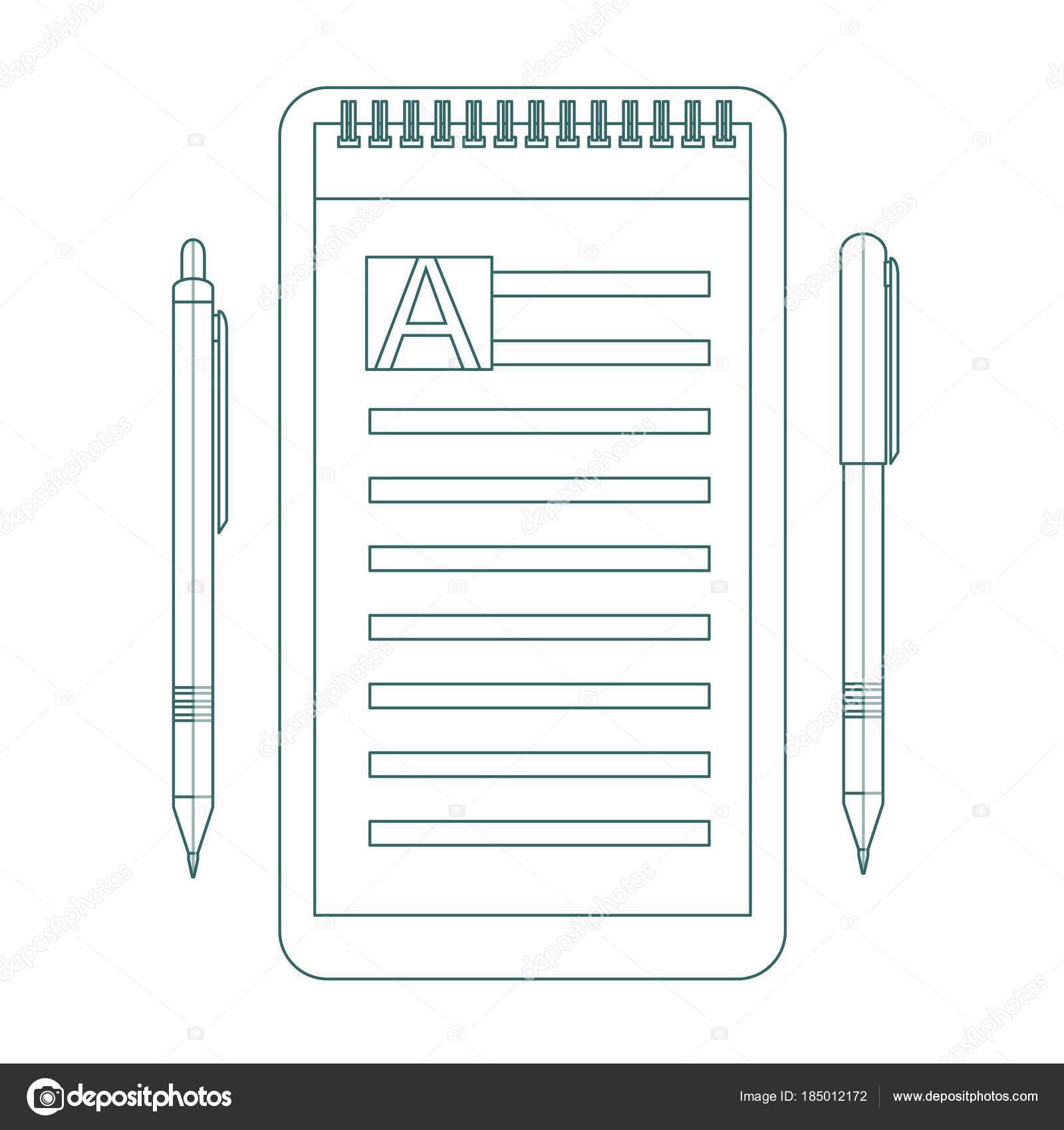 Kontur Symbol Liste zu tun. Design-Ikone do-Liste, eine Checkliste ...