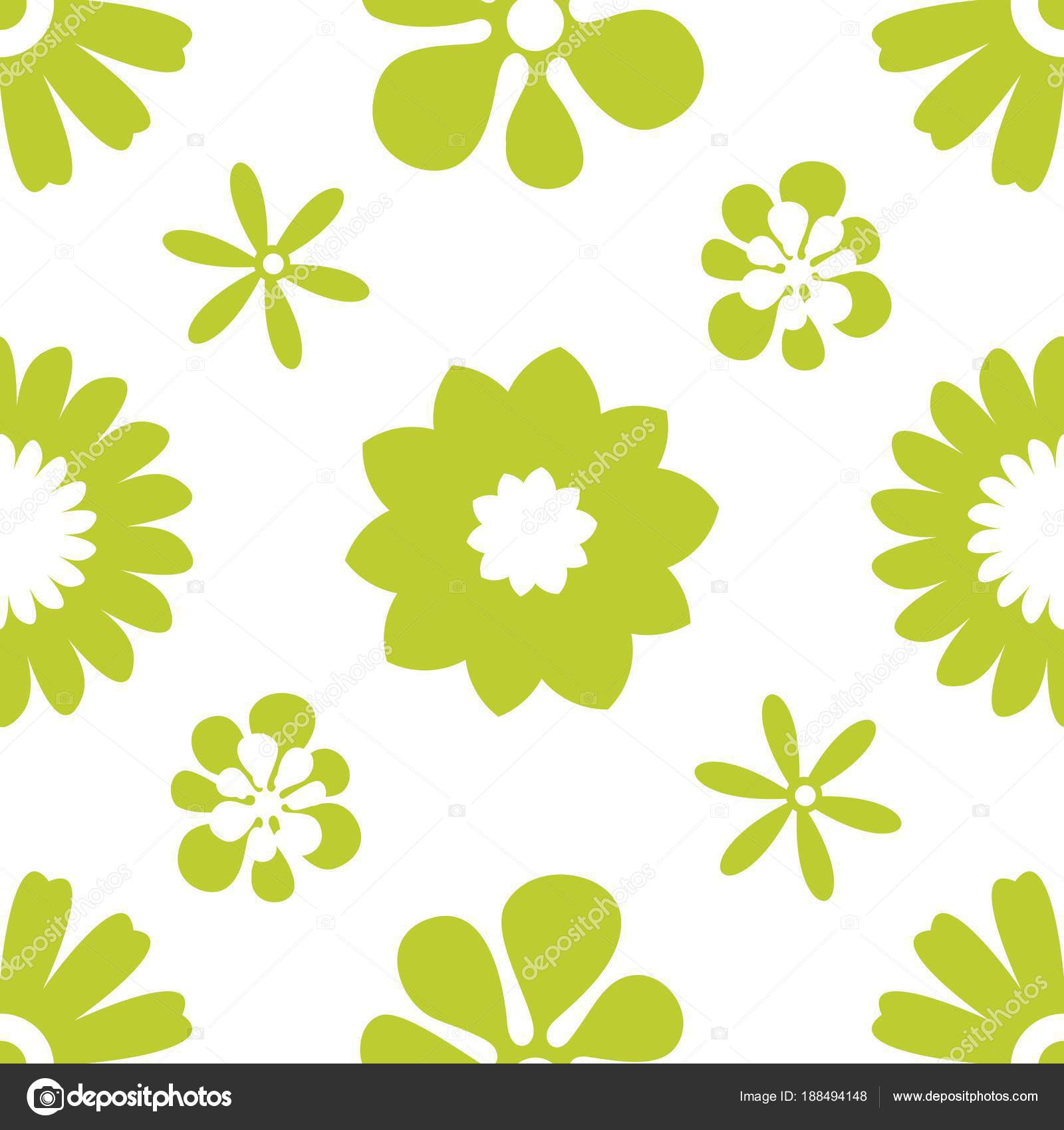 Flower Simple Minimalistic Seamless Pattern Graphic Design For Paper