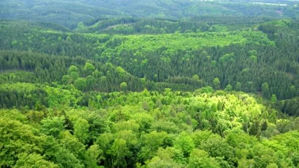 Hustý, obrovské lesní oblast - pohled shora