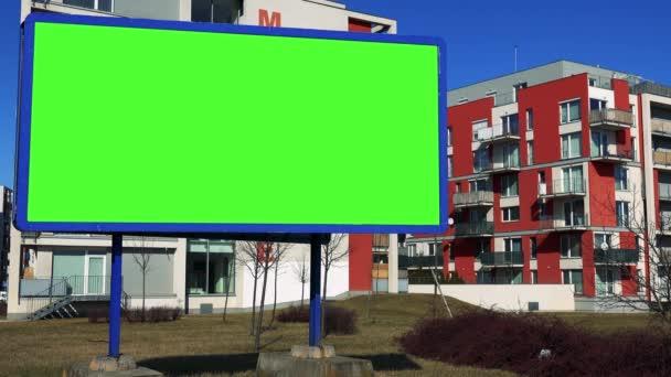 mellett a lakópark Billboard képernyő