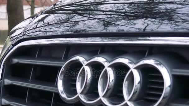 Audi symbol na nose černé auto