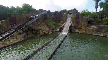 Water attraction in the amusement park Port Aventura World