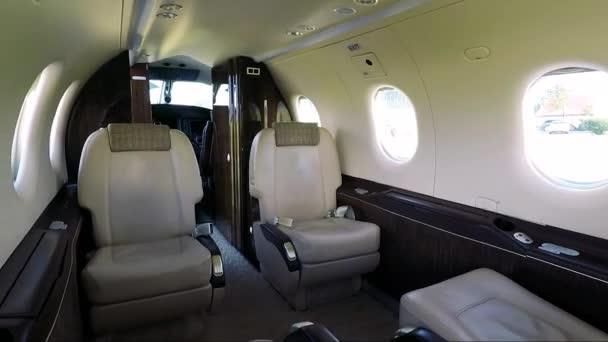 Interior of a luxury private plane