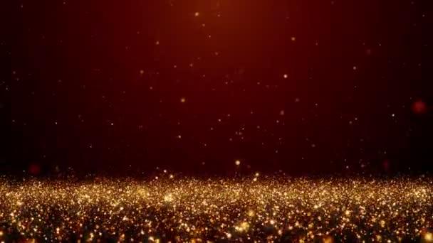 Částice prachu bokeh abstraktní lehkým chodem tituly filmové pozadí smyčky