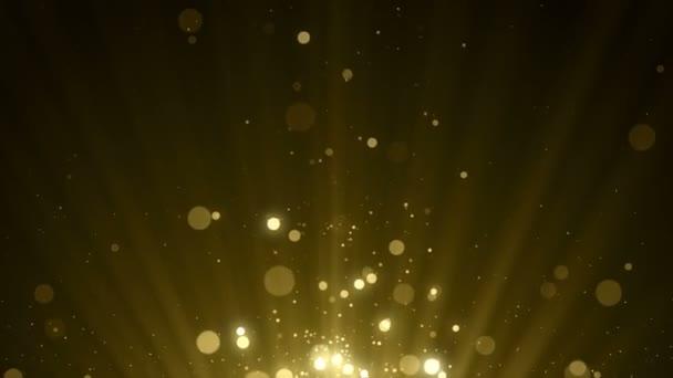 částice zlato bokeh třpyt ocenění prach abstraktní pozadí vj smyčka