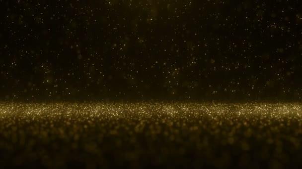 Částice zlata glitter bokeh ocenění prach abstraktní pozadí smyčka